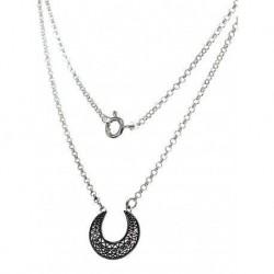 Collar Luna Small Plata
