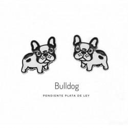 Pendiente Bulldog Plata