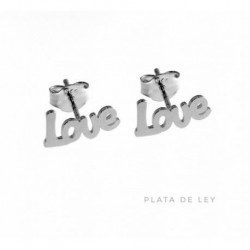 Pendiente Love Plata