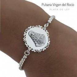 Pulsera Virgen del Rocío Plata