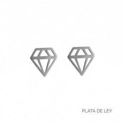 Pendiente Diamante Plata