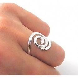 Anillo Espiral Plata