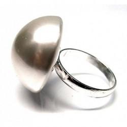 Anillo M/perla Plata 22 mm