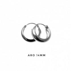 Aro M/Caña Plata 14 mm
