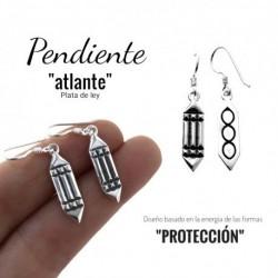 Pendiente Atlante Plata
