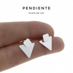 Pendiente Triángulo Plata