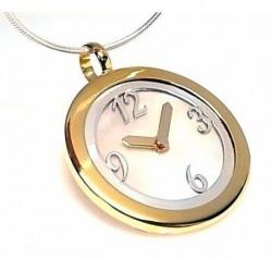 Colgante Nácar Reloj Plata