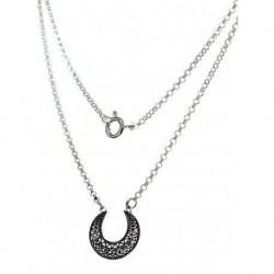 Collar Luna Small Plata