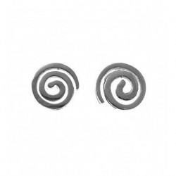 Pendiente Espiral Plata