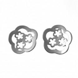 Pendiente Flores Plata