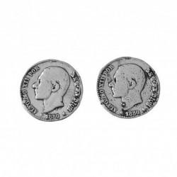 Pendiente Moneda Plata