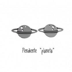 Pendiente Planeta Plata