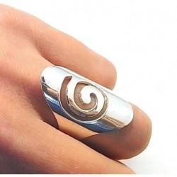 Anillo Espiral Plata ¡Núm...