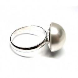 Anillo M/perla Plata 16 mm