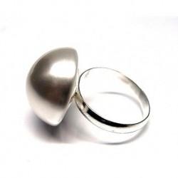 Anillo M/perla Plata 18 mm