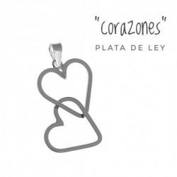 Colgante Corazones Plata