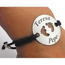 Pulsera Pies Personalizado...
