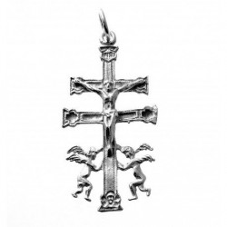 Colgante Cruz Caravaca Plata