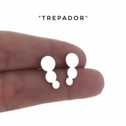 Pendiente Trepador Disc Plata