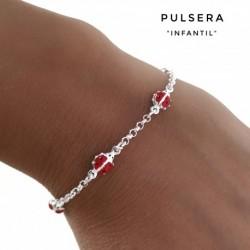 Pulsera Mariquitas Plata