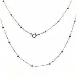 Cadena Combinada Plata 50 cm