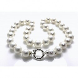 Collar 36 Perlas Shell + Plata