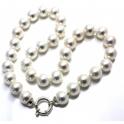 Collar 31 Perlas Shell + Plata