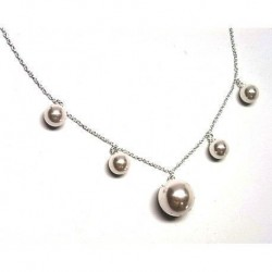 Collar Mundo de Perlas Plata