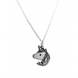 Collar Unicornio Plata