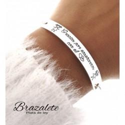 """Brazalete """"Gracias por..."""