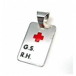Colgante Cruz Roja Plata