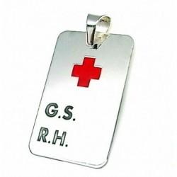 Colagante Cruz Roja Plata
