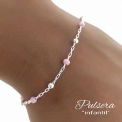 Pulsera Pink Plata