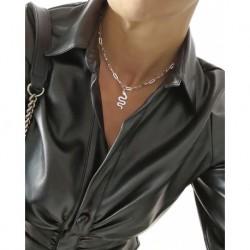 Collar Serptiente Plata